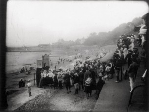 Punch and Judy at Lyme Regis in 1913