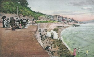 High tide at Lyme in about 1905