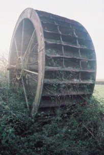 The iron water wheel at Silton