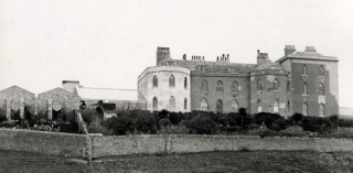 The original Abbotsbury Castle in about 1904, at Abbotsbury Subtropical Garden