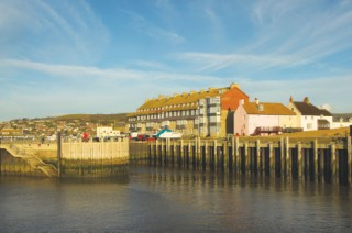 The four storeys of Pier Terrace - Bridport Harbour