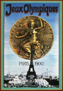 An official poster from the 1900 Paris Olympic Games