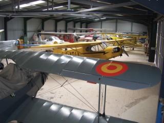 Hidden treasures in one of the hangars - Compton Abbas Airfield