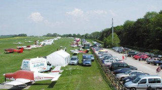 Rush hour at Compton Abbas airfield