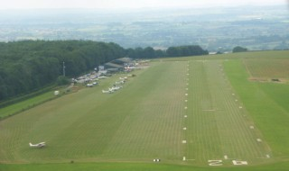 Looking westwards over the airfield towards the Blackmore Vale - Compton Abbas Airfield