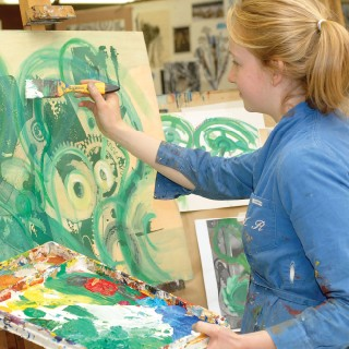 A Sherborne girl at work in the art department - Sherbourne Girls