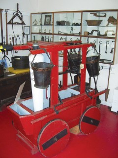 The fire engine, dating from 1744, is Dorset's oldest.