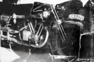 Dents caused by crash which killed T E Lawrence