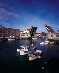 The lifting bridge at Weymouth