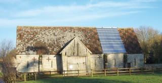 Winterborne Clenston's tithe barn
