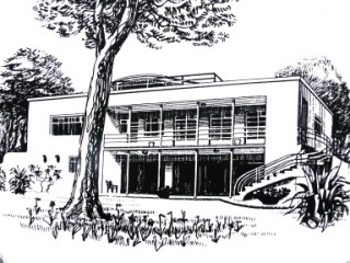The rear of Oliver Hill's classic 'Landfall Poole /></td></tr><tr align=