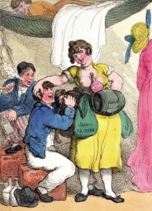 'Rigging out a smuggler' by Rowlandson