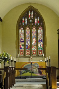 the east window and the altar frontal