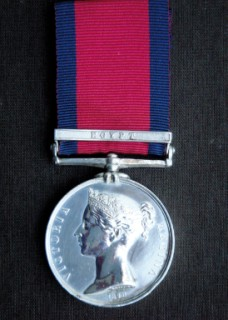 The Military General Service Medal, <tr align=