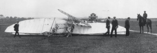 The remains of the aircraft in which Charles Rolls became the first airman to die