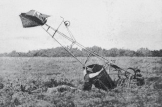 Edmond Audermars not only walked away from this crashed Demoiselle monoplane