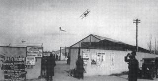The entrance to Ensbury Park aerodrome
