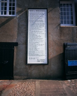 Price list on the Cobb, Lyme Regis
