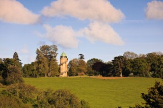 The Lillington water tower from the village