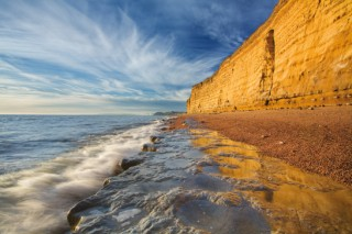 sandstone cliffs,dorset coast