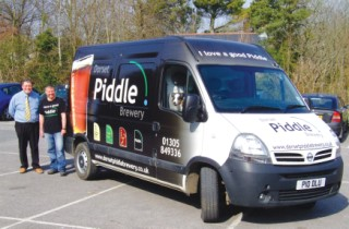 The Dorset Piddle delivery van