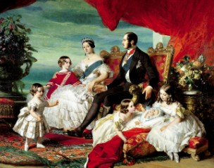 'The Family of Queen Victoria', painted by Winterhalter two years before William Beetham's portrait of the Bond family