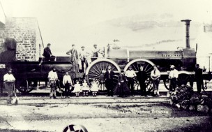 Victoria class 2-4-0 Brindley at Bridport station in the 1860s