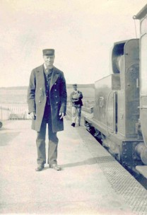 John Sheppard, a guard on the Bridport line from the early 1860s until his retirement in 1896