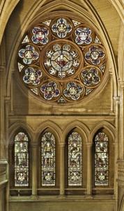 spectacular rose window