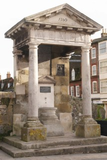 monument in the market place, Blandford