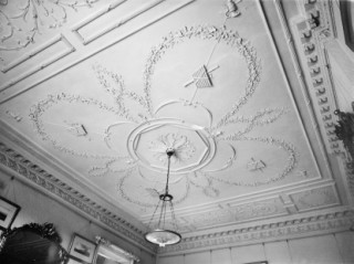 The plaster ceiling in the drawing roomDuntish Court, nr Buckland Newton