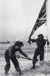 victory on the landing beach
