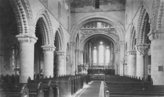 The interior of the Minster,