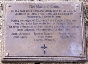 commemorative plaque Chideock.Dorset