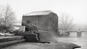 An atmospheric shot of the mill in the winter of 1979-Cut Mill