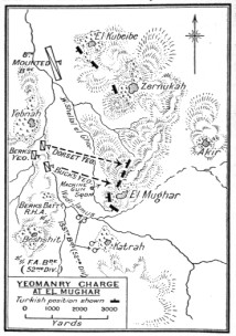 A map of the charge - Queens Own Dorset Yoemanry