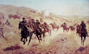 The charge at El Mughar - Queens Own Dorset Yoemanry