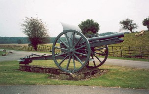 The gun captured at Sidun, still on display at Sherborne Castle