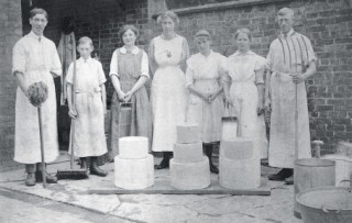 Dairying, along with butter and cheese-making, became more hygienic and scientific from the earlwith their white overalls, mop, broom etc.