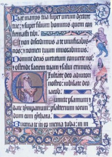 A page from the Luttrell Psalter