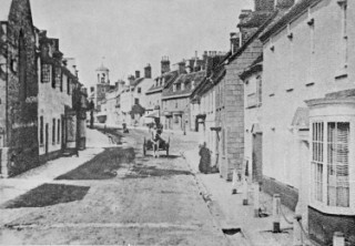 Looking up South Street in Victorian Wareham
