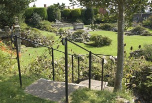 Garden at the abbey at Shaftesbury