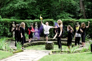 An outdoor production during last term's Arts Festival St Anthony's Lewston