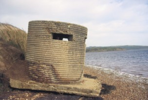 Type 25 round box .A pillbox at Abbotsbury