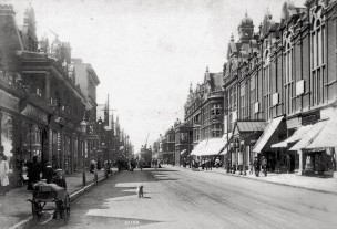 Christchurch Road, Boscombe, in 1909