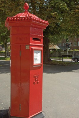 A rare hexagonal pillar-box at the corner of South Walks and South Street