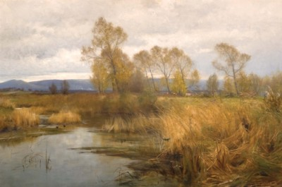 The Purbeck Hills from the River Frome, Frederick Whitehead, 1894
