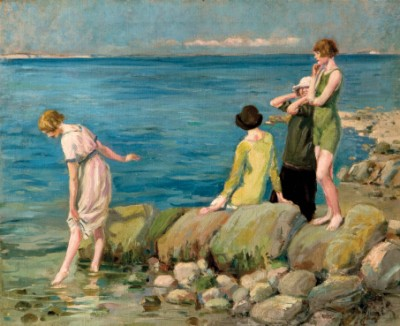 Women Bathers at Studland, Eustace Nash, 1920-29