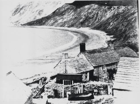 Sea Cottage, Worbarrow, home of the Miller family of fishermen, photographed by Geraldine Paul in 1938
