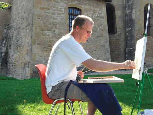 Peter at work in the open air
